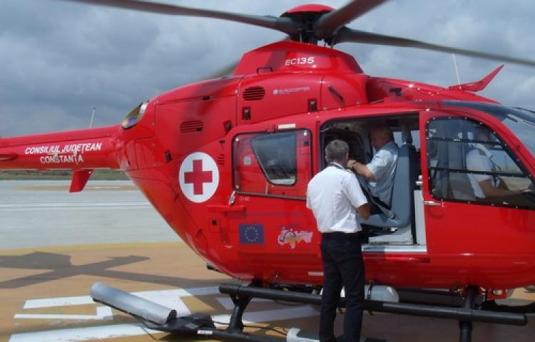 Un elicopter de urgențe pentru Nicușor Constantinescu